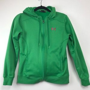 Hurley Green Zip Front Hooded Sweatshirt SM